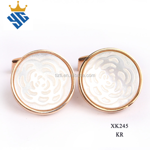 shell cufflink parts for men