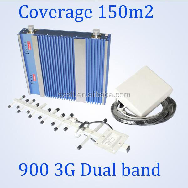 <strong>GSM</strong> 900 WCDMA 3G 2100mhz cell phone signal booster indoor high gain dual band repeater amplifier