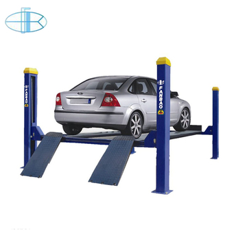 Manual Single Side Release System Movable 4 Post Vehicle Hoist Lift on