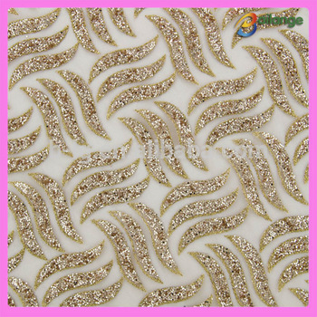Trade Urance Supplier Bailange Whole Sequin Fabrics Beading Patterns Fabric For Wedding Dress
