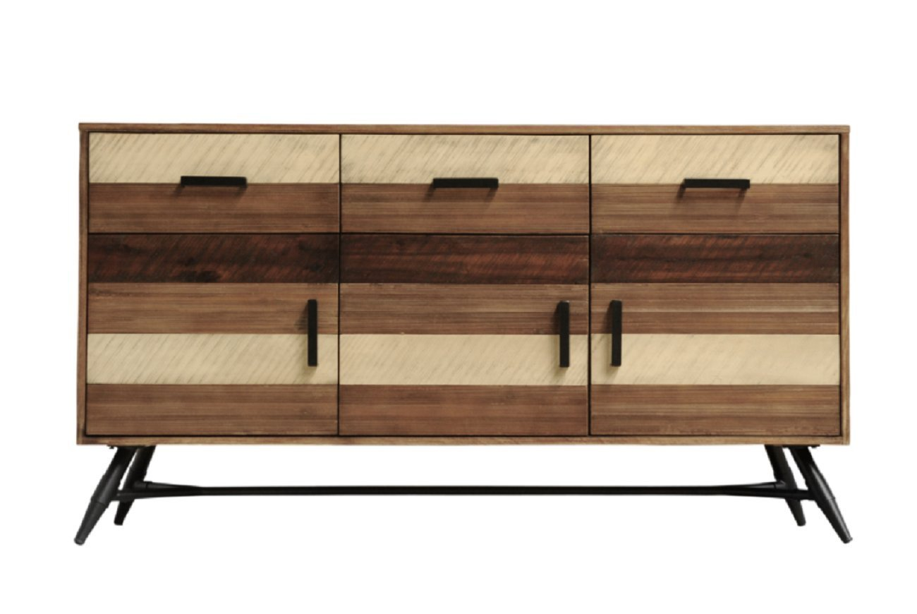 Gentil Get Quotations · CDI FURNITURE BU1294 The Medley Collection Modern Rustic  Acacia Wood Buffet Table With Drawers And Cabinet