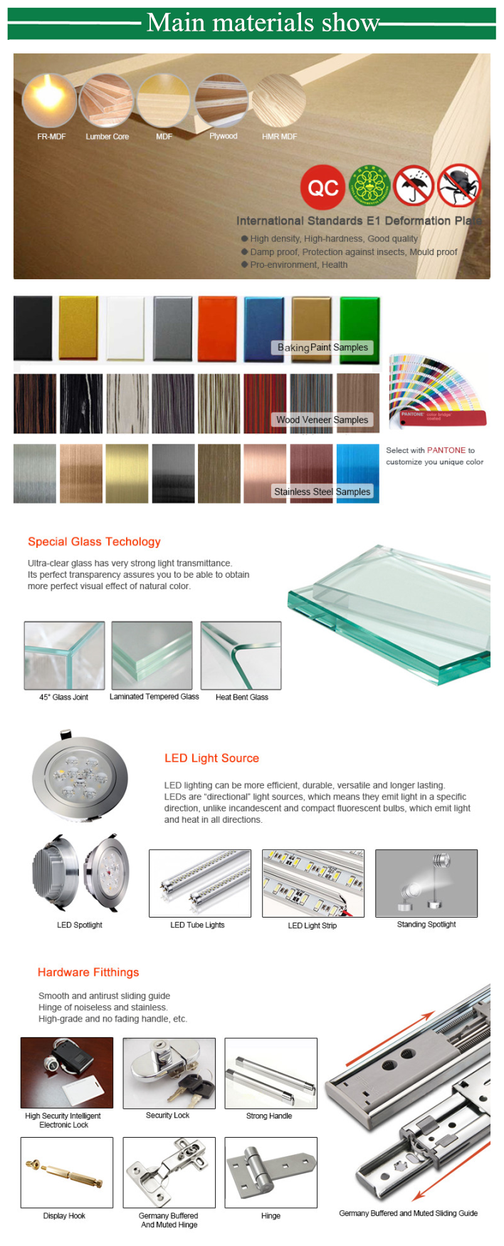 Wall tall tempered glass museum display equipment with LED spotlight and  museum equipment showcase
