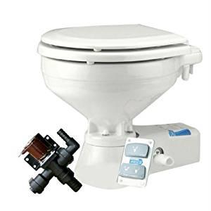 Jabsco Marine 12V Quiet Flush Compact Freshwater Toilet by Jabsco