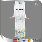 Latest abaya designs 2015 chiffon maxi dress floral dress white dubai jalabiya moroccan kaftan muslim jilbab Islamic clothing