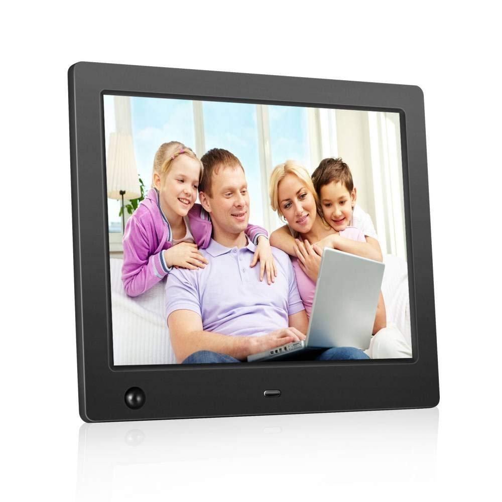Widescreen Digital Photo Frame,with Hi-Res Display,Smart Digital Frame, 8 Inch IPS Touch Screen,electronic photo frame slideshow Picture/Video/MP3