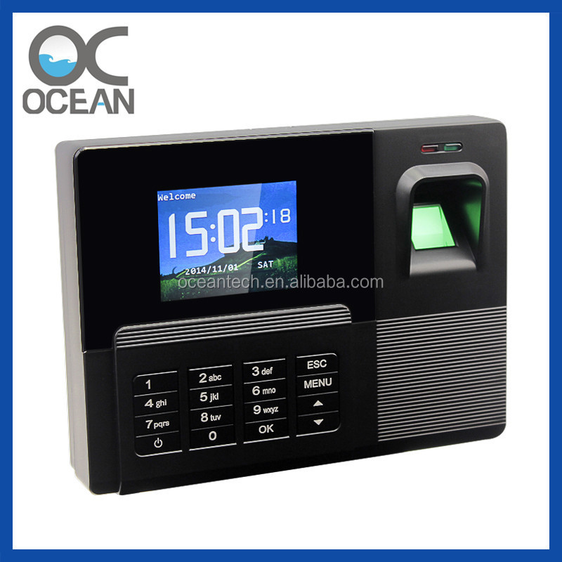 fingerprint scanner employee attendance system time recorder machine