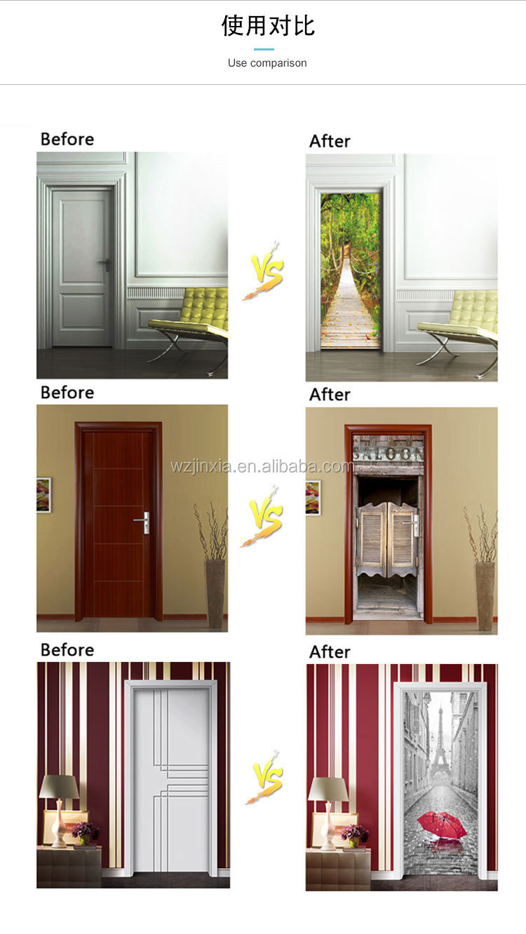 Door Decal Vinyl 3d Wall Sticker In Stock