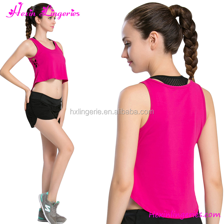 Girls Top Sports T-Shirt Tank Tops Running Vest Jogging Suits Wholesale