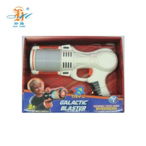 Top selling light up toy colorful flash blaster space gun for gift