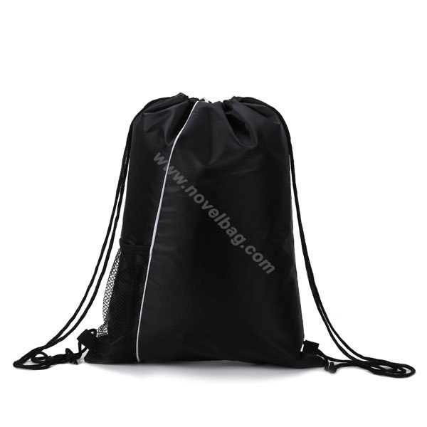 New Design Polyester Sports Customized Drawstring Backpack Bag