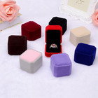Square Wedding Velvet Earrings Ring Box Jewelry Display Case Gift boxes