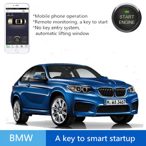 Mobile phone control way Remote start engine Smart Push button engine start stop car Safaty System keyless for BMW