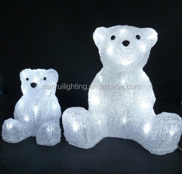 24v 110v 220v Outdoor Attractive Acrylic Animals Led Holiday Decor Magic White Polar Bear