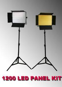ePhoto 2 x 1200 LED Video Lite Panel Dimmable Photo Studio Video Lighting LED Panels & Stands by ePhotoInc ULS1200Hx2