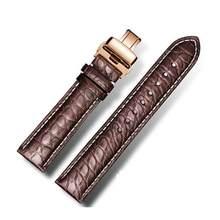 DOM ремешки для часов из натуральной кожи аллигатора, ремешки для часов для мужчин и женщин, аксессуары для часов 22 мм, 18 мм, 20 мм, 24 мм, 16 мм(Китай)