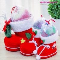 Novelty Christmas Eve Candy box for Kids Boots Shaped Christmas Gift Packaging