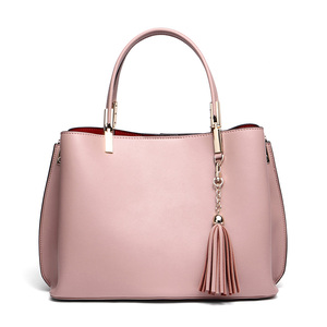 Good Quality Custom Fancy Real Leather Messenger Bags Lady Big Tote Handbag Women Leather Bag