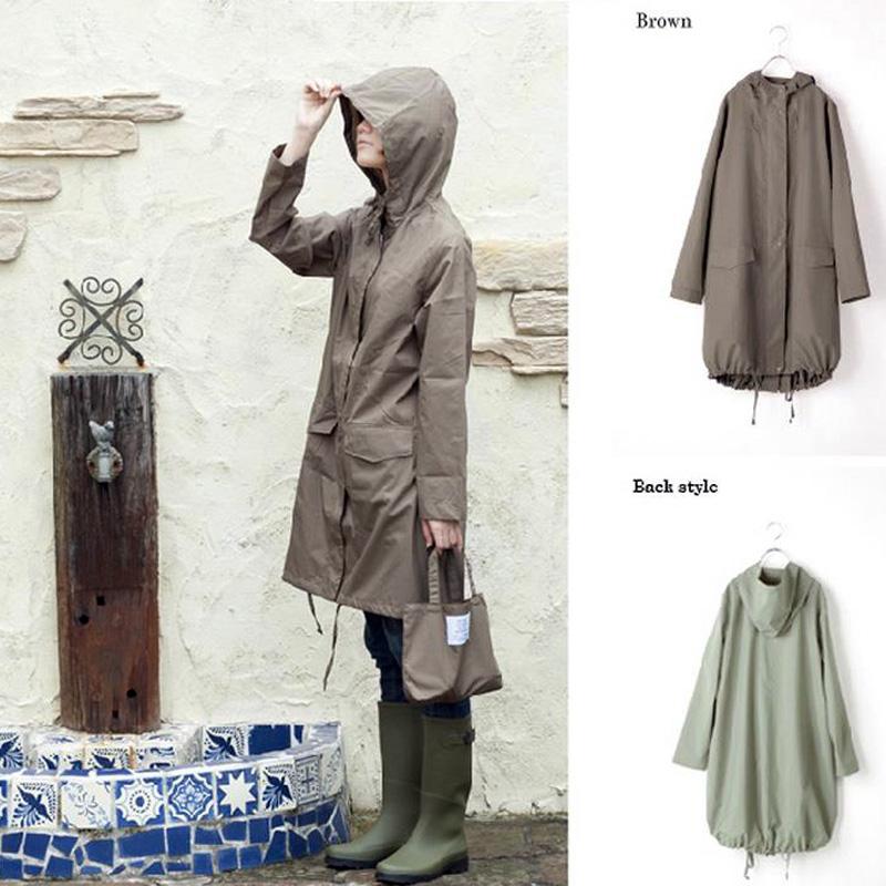 Модный дизайн печать непроницаемой молния плащи водонепроницаемый дождь пальто милые девушки плащи
