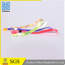 charming colorful custom ribbon satin bracelet with plastic clip