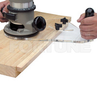 Circle Edge Mortise Guide for Wood Router