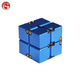 High quality creative toys anti fidget infinity aluminum cube for stress relief have different color