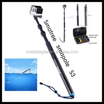 2015 Smatree new gopros pole floating S3, monopod for gopros accessories