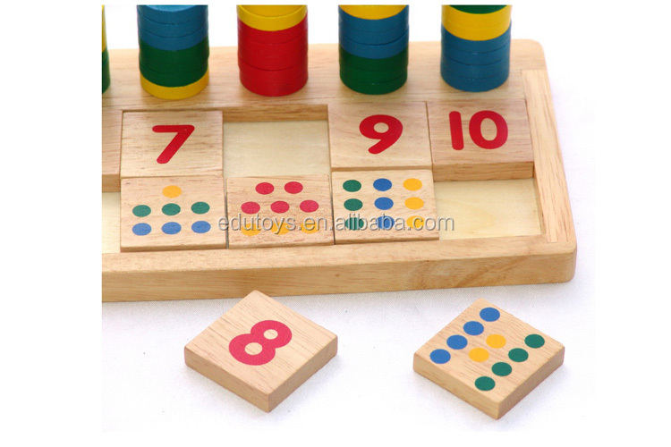 Preschool Toys Product : Wooden counting toys preschool educational
