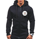 Wholesale Men's Full Zip Long Sleeve Thermal Hoodie Sport Jogging Hoodie
