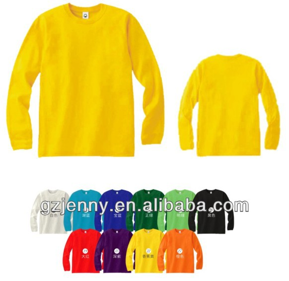 Plain Yellow Long Sleeve T Shirt | Is Shirt