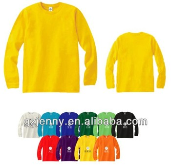 Blank Men Long Sleeve O Neck Plain T Shirts Manufacturers