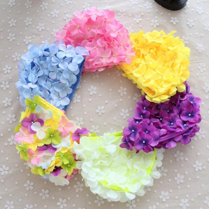 c27664fe36f 6 Color Women 3D Petal Swim Hat Bath Cap Ladies Swimming Pool Flower Hats XR -Hot. Description: