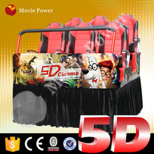 Controlled by servo motor indoor attraction 5d