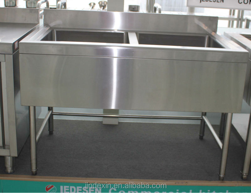 Commercial Stainless Steel Kitchen Sink With Double Bowls Two Bowls Sink