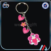 Stamping electroplating zinc alloy mk keychain