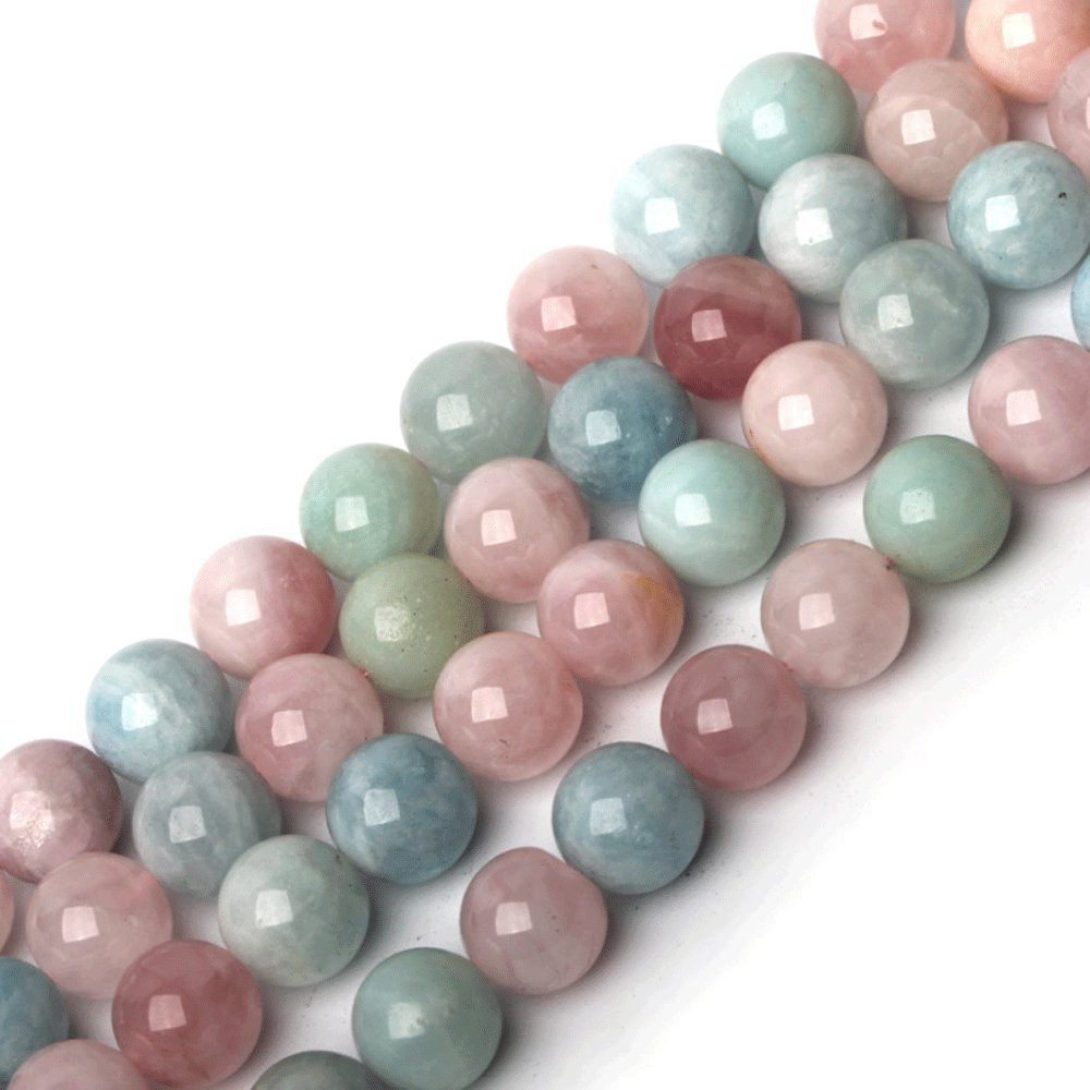Natural Beads Morgan Stone Round Loose Beads For Jewelry Making Diy Bracelet Necklace