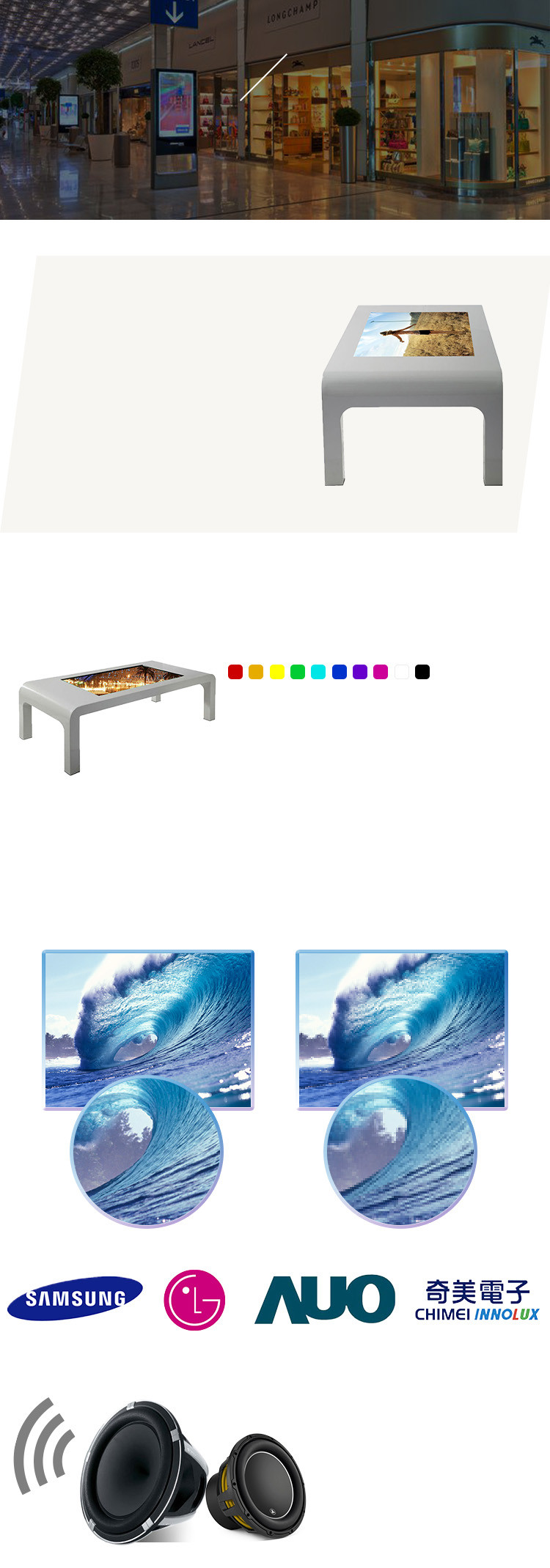 43'' Wifi 3G LCD Touch Screen Table