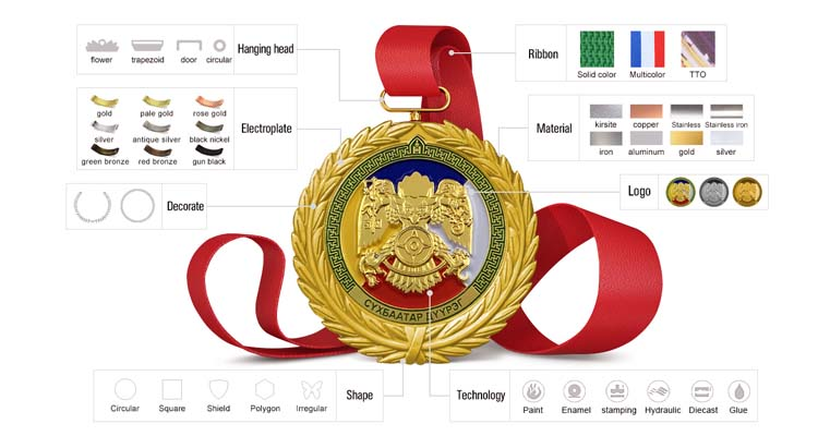 Di natale cut-out maratona di sport su ordinazione di finitura santa medaglie