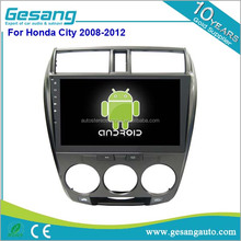 Android 6.0 Double din full touch screen car dvd player car radio with reversing camera for Honda city 2008-2012