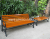 Outdoor cast iron wood bench backless wooden bench