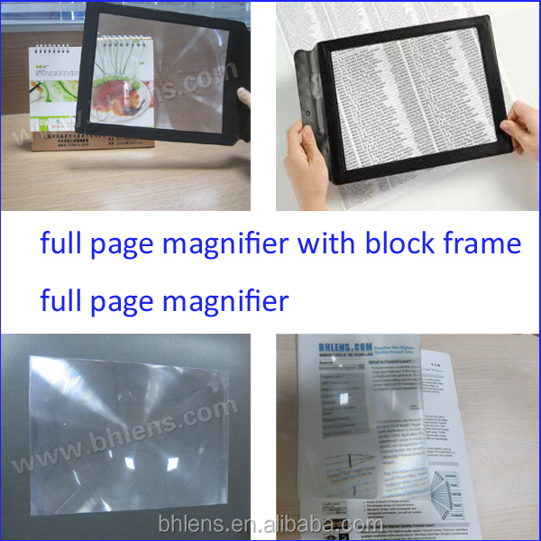 Pocket Plastic Full Page Magnifier