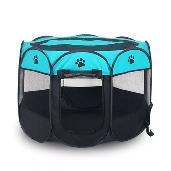 large portable foldable fabric 8 panels puppy dog pet playpen with carry bag