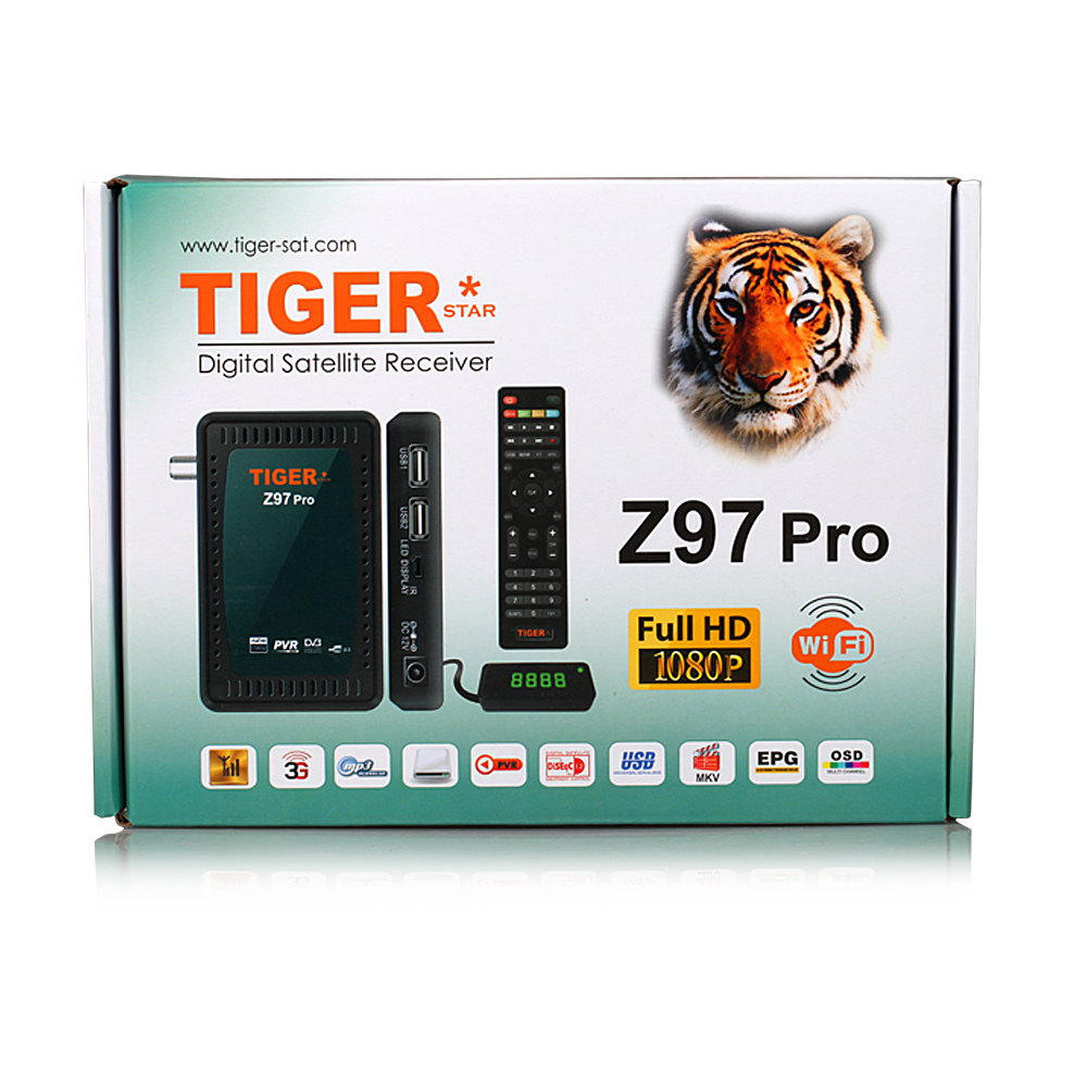 Tiger Z97Pro Full HD 1080P Mini SatelliteTV Receiver FTA Satellite Decoder Support IP TV