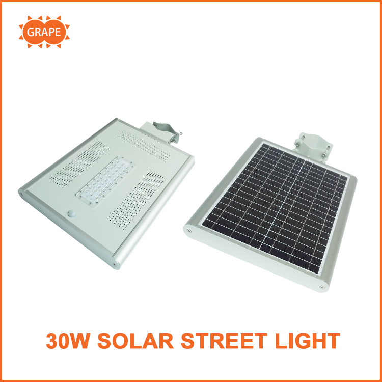 New 60W all in one solor power lithium battery street lamp with remote control