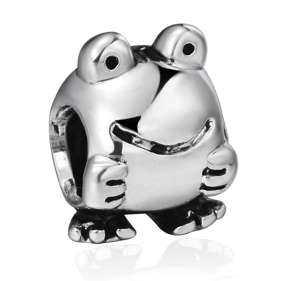 925 Sterling Silver Frog Charm Floating European Locket Bead Original DIY Bracelet Charms Fit Chain Necklace Bangle