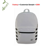 Stylish trending white label simple vans teen student backpack