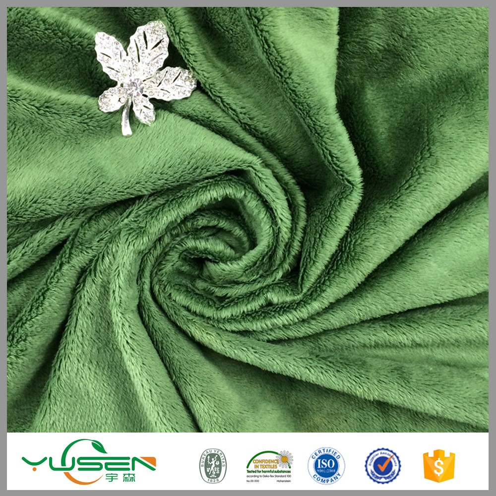 Yusen produce hot sale poly Velvet Car Seat Fabric