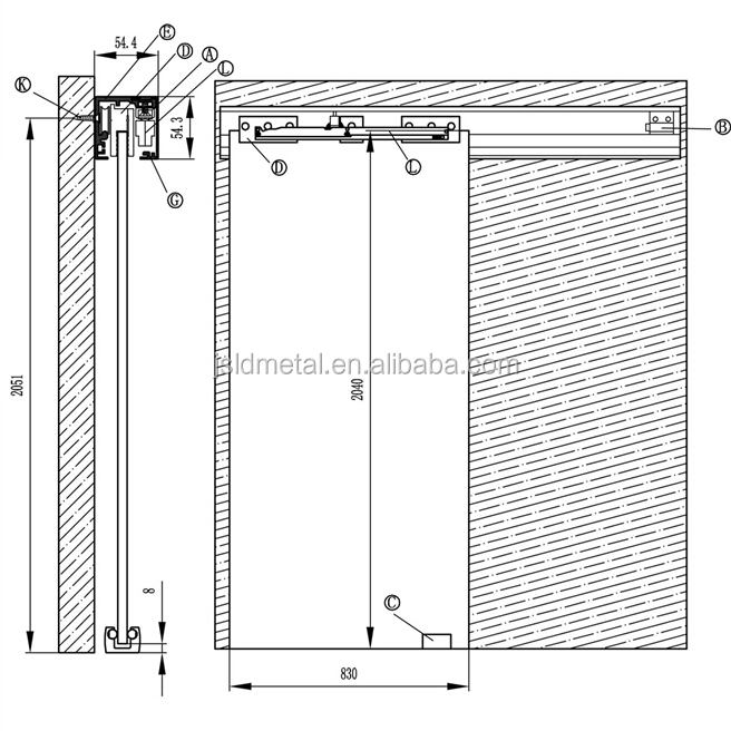 Soft Close Aluminum Track Sliding Glass Door,top Hung,wall Or Ceiling  Installation