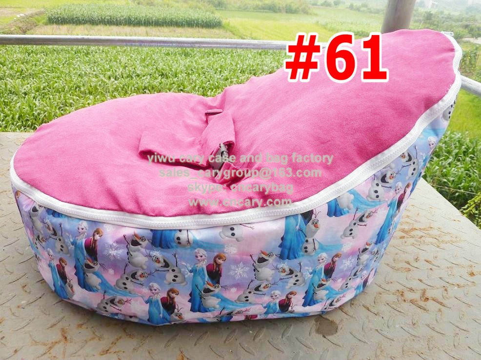 Pink Elephant Print Newborn Bean Bag Snuggle Bed Portable Seat Nursery Baby Sleeperbaby