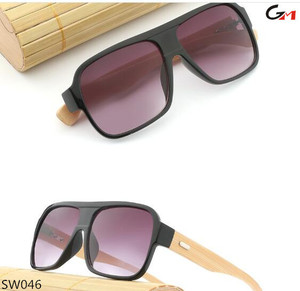 new square big size oversize over size bamboo wide temple sunglasses