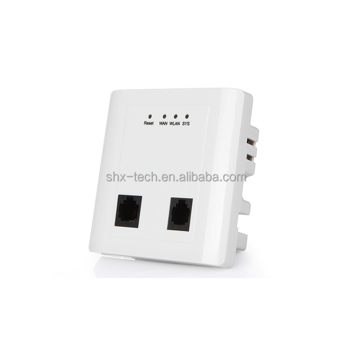 In-wall wireless access point/AP with POE power supply for hotel, Atheros AR9331